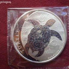 Monedas antiguas de Oceanía: ONZA DE PLATA PURA NIUE 2 $ 2016 TORTUGA PLATA 999 1OZ. Lote 288493508