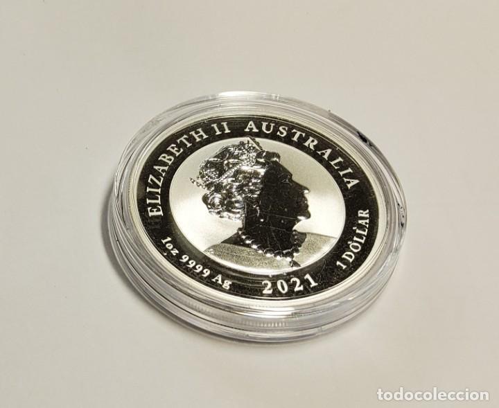 Monedas antiguas de Oceanía: 1 dolar de PLATA de AUSTRALIA DEL AÑO 2021.1 ONZA DE PLATA DE LEY 9999.PROOF - Foto 2 - 289569253