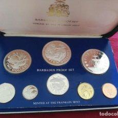 Monedas antiguas de Oceanía: SET MONEDAS BARBADOS 1975 10, 5 DOLLARS DE PLATA. Lote 289590048