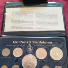 Monedas antiguas de Oceanía: SET MONEDAS DE PLATA THE BAHAMAS 1971, 5 2 1 DOLLARS. Lote 289595223