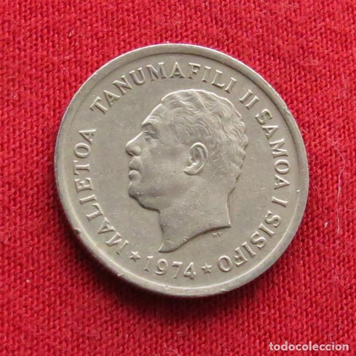 Monedas antiguas de Oceanía: Samoa 5 sene 1974 - Foto 2 - 289615003