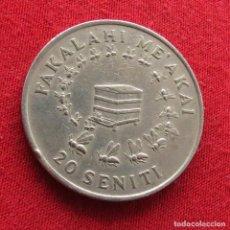 Monedas antiguas de Oceanía: TONGA 20 SENITI 1975 FAO #2. Lote 289647498