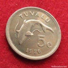 Monedas antiguas de Oceanía: TUVALU 5 CENTS 1976. Lote 289767918