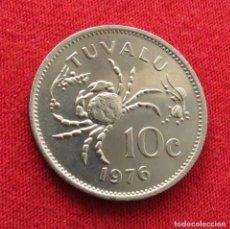 Monedas antiguas de Oceanía: TUVALU 10 CENTS 1976. Lote 289767943