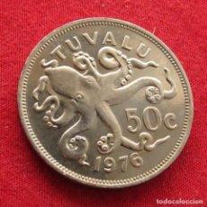 Monedas antiguas de Oceanía: TUVALU 50 CENTS 1976. Lote 289767998