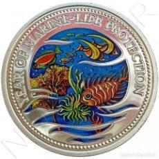 Monedas antiguas de Oceanía: PALAOS (REPUBLIC OF PALAU) 5 DOLARES PLATA 1992 MULTICOLOR - VIDA MARINA. Lote 289862588