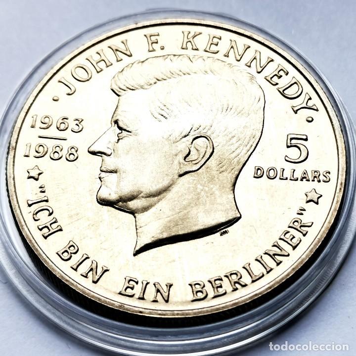 ⚜️ A2322. 80.000 EJEMPLARES! CONMEMORATIVA. 5 DOLLARS 1988. NIUE (Numismática - Extranjeras - Oceanía)