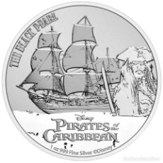 Monedas antiguas de Oceanía: MONEDA NIUE - PIRATAS DEL CARIBE 2021 1 ONZA TROY PLATA EN CAPSULA. Lote 290981763