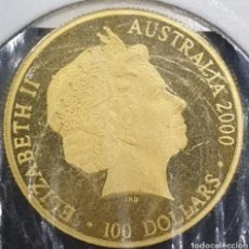 Monedas antiguas de Oceanía: ORO 24KTS. 100 DÓLARES AUSTRALIANA. PESA 10 GRAMOS.. Lote 291148933