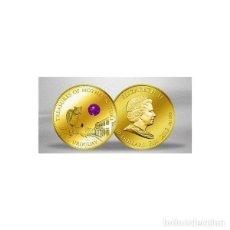 Monedas antiguas de Oceanía: 2012 FIJI ORO CON AMATISTA 10 DÓLARES EN PERFECTO ESTADO + CÁPSULA. Lote 293667008