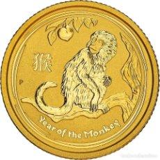 Monedas antiguas de Oceanía: [#898509] MONEDA, AUSTRALIA, ELIZABETH II, YEAR OF THE MONKEY, 15 DOLLARS, 2016, 1/10 OZ. Lote 293761458