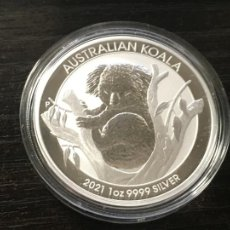Monedas antiguas de Oceanía: AUSTRALIA 1 DOLAR DE PLATA PURA SIN CIRCULAR 2021 KOALA. Lote 293941698