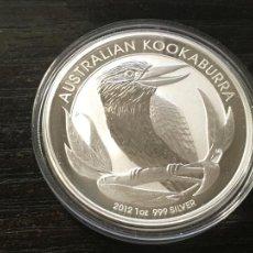 Monedas antiguas de Oceanía: AUSTRALIA 1 ONZA DE PLATA PURA - NUEVA - 2012 - KOOKABURRA. Lote 293941943