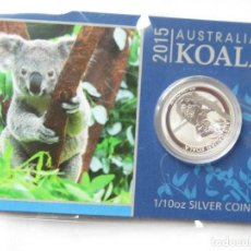 Monedas antiguas de Oceanía: 1/10 DE ONZA KOALA PLATA. Lote 293997138