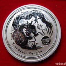 Monedas antiguas de Oceanía: UNA ONZA DE PLATA AUSTRALIA 2012 DRAGON. Lote 293998258