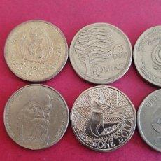 Monedas antiguas de Oceanía: LOTE DE 6 MONEDAS DE 1 DÓLAR DE AUSTRALIA. Lote 294823533