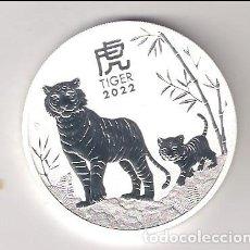 Monedas antiguas de Oceanía: MONEDA DE 1 DÓLAR (ONZA) DE AUSTRALIA DE 2022. AÑO CHINO DEL TIGRE. PLATA. PROOF. (ME72). Lote 294864678