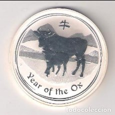 Monedas antiguas de Oceanía: MONEDA DE 1 DÓLAR (ONZA) AÑO DEL BUEY DE AUSTRALIA DE 2009. PLATA. PROOF. (ME119). Lote 294935173