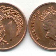 Monedas antiguas de Oceanía: 1 CENT 1988 NUEVA NEW ZELANDA SIN CIRCULAR / UNC DIFICIL!!!!!!. Lote 294957193