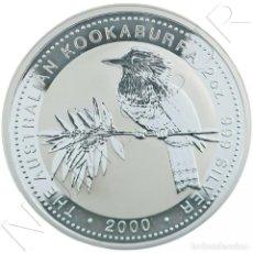 Monedas antiguas de Oceanía: AUSTRALIA 2 DOLARES PLATA 2000 KOOKABURRA - 2 ONZAS. Lote 295027273