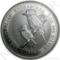 Monedas antiguas de Oceanía: AUSTRALIA 2 DOLARES PLATA 1999 KOOKABURRA - 2 ONZAS. Lote 295029753