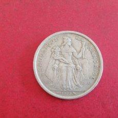 Monedas antiguas de Oceanía: 2 FRANCOS DE POLINESIA FRANCESA 1973. Lote 296573643