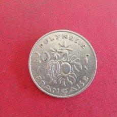 Monedas antiguas de Oceanía: 20 FRANCOS DE POLINESIA FRANCESA 1967. Lote 296573798
