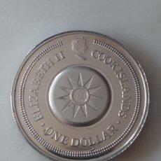 Monedas antiguas de Oceanía: COOK ISLANDS ONE DOLLAR CAPRICORNIO. SERIE ZODIACO. Lote 296631963