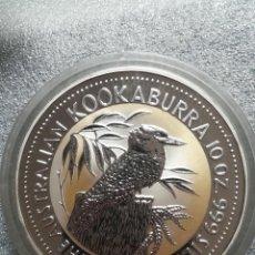 Monedas antiguas de Oceanía: MONEDA 10 DOLLARS AUSTRALIA 1993 KOOKABURRA 311 GR PLATA PURA 999. Lote 296718983