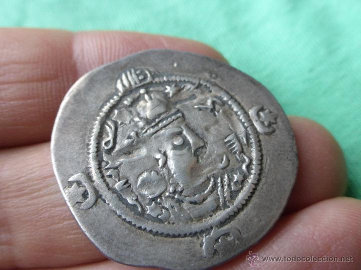 Monedas antiguas: MONEDA SASÁNIDA, DRACMA DE PLATA - PERSIA 200 DC. - Foto 3 - 54719023
