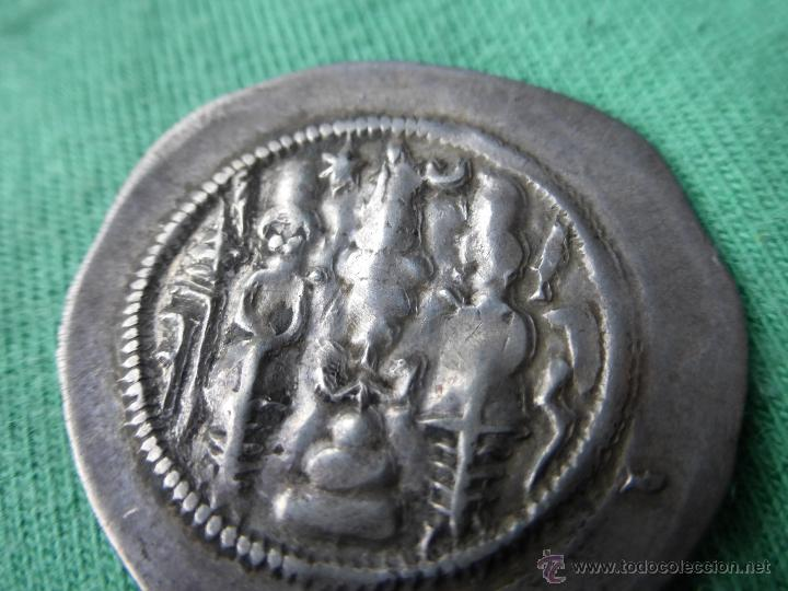Monedas antiguas: MONEDA SASÁNIDA, DRACMA DE PLATA - PERSIA 200 DC. - Foto 5 - 54719023