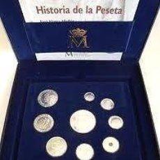 Monedas antiguas: 2001 ESTUCHE ÚLTIMAS PESETAS. ESPAÑA 2001. ESTUCHE CONMEMORATIVO DE LAS ÚLTIMAS PESETAS EN PLATA DE. Lote 62956084