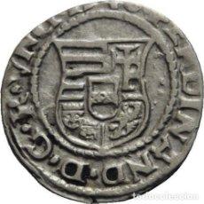 Monedas antiguas: HUNGARIA DENAR DE PLATA, FERDINAND I, 1526-1540 KN, MADONNA. Lote 78940137