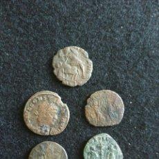 Monedas antiguas: LOTE 5 MONEDAS ROMANAS. Lote 91240848