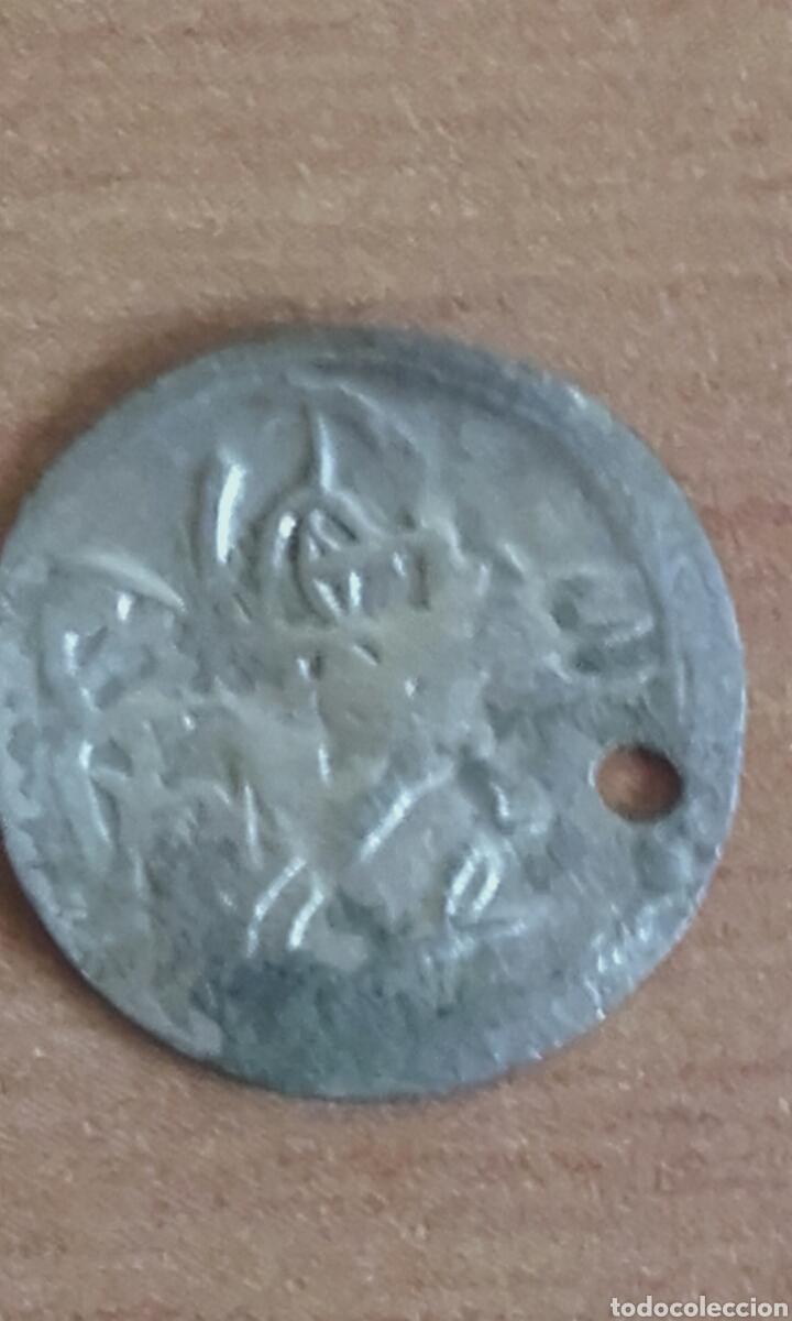 Monedas antiguas: VER 78 IMPERIO OTOMANO ARABE LEYENDA MEDIAVAL MONEDA EN PLATA ACUÑADA A MARTILLO MEDIDAS SOBRE 11 - Foto 2 - 97231691