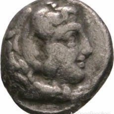Monedas antiguas: GRECIA! MBC+/MBC ALEJANDRO III 336-323 AC! OBOL DE PLATA! BABYLON 323 AC! RARO!!! HERACLE Y ZEUS. Lote 102121711