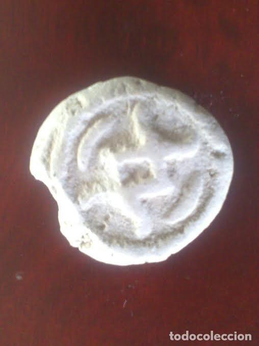 ANTIGUA MONEDA DE ARCILLA BLANCA - MUY RARA (Numismática - Periodo Antiguo - Otras)