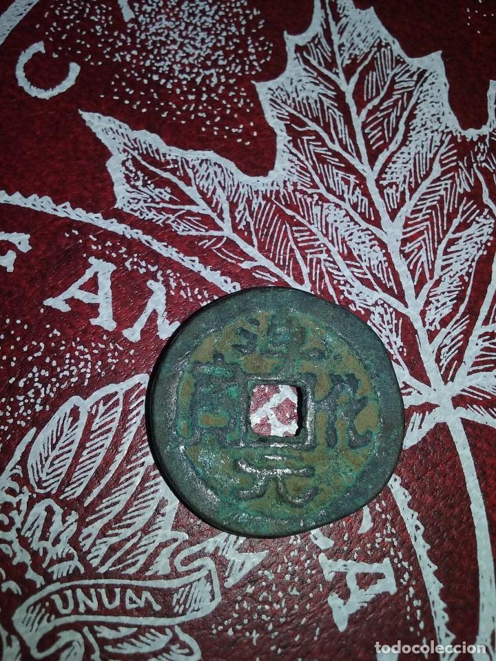 Monedas antiguas: MONEDA CHINA VOTIVA CON BUDAS - Foto 2 - 106106439