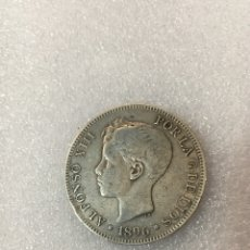 Monedas antiguas: MONEDA ALFONSO 1896 VINTAGE. Lote 121442156