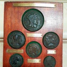 Monedas antiguas: MAGNIFICA COLECCION DE MONEDAS MEDALLAS ROMANAS DE LA PROA EN BRONCE. Lote 129976299