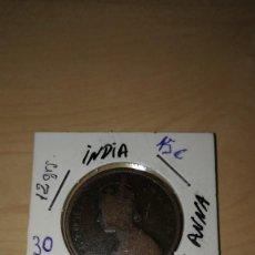 Monedas antiguas: INDIA COIN 1/2 ANNA . Lote 141938854