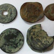 Monedas antiguas: LOTE DE 9 MONEDAS ANTIGUAS SIGLO 17 Y 18. Lote 142777166
