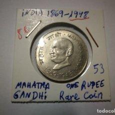 Monedas antiguas: INDIA 1948 MAHATMA GANDHI. Lote 151908342