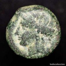 Monedas antiguas: DOMINACIÓN CARTAGINESA, 237-209. 1/2 CALCO DE BRONCE TANIT-CABALLO. Lote 150073308