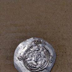 Monedas antiguas: DRACMA COSROES II (590-628 D.C.) AÑO:10 CECA: RD (RAY). Lote 165748290