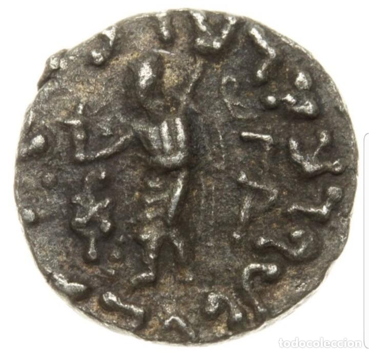 Monedas antiguas: Bactria, AR Dracma, Rey de Baktria, Indo-Skythian, Plata, MBC - Foto 3 - 183678002