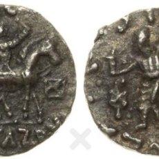 Monedas antiguas: BACTRIA, AR DRACMA, REY DE BAKTRIA, INDO-SKYTHIAN, PLATA, MBC. Lote 183678002