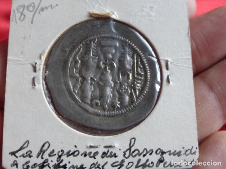Monedas antiguas: MONEDA DRACMA SASÁNIDA (años 590 y 628) Khosro II o Cosroes II. PLATA . BUENA CONSERVACIÓN - PERSIA - Foto 3 - 201586660