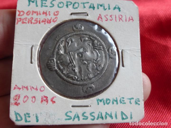 Monedas antiguas: MONEDA DRACMA SASÁNIDA (años 590 y 628) Khosro II o Cosroes II. PLATA . BUENA CONSERVACIÓN - PERSIA - Foto 4 - 201586660