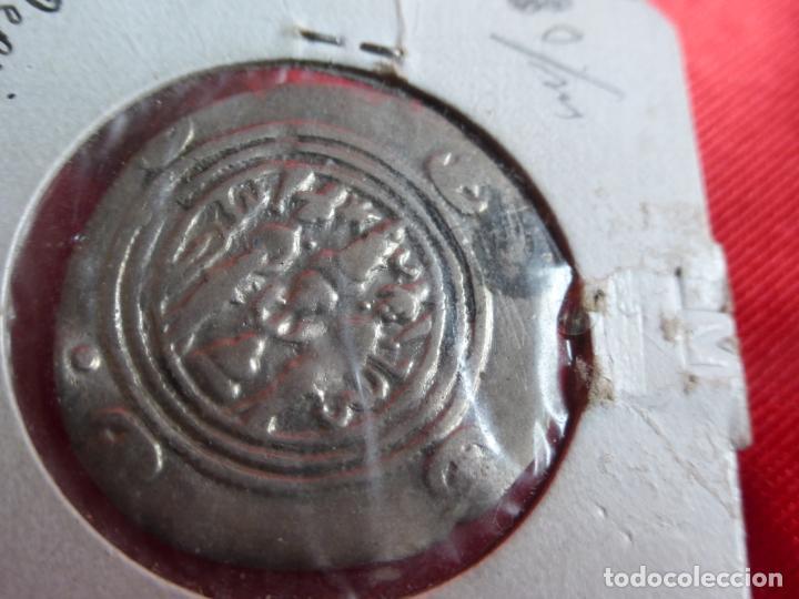 Monedas antiguas: MONEDA DRACMA SASÁNIDA (años 590 y 628) Khosro II o Cosroes II. PLATA . BUENA CONSERVACIÓN - PERSIA - Foto 5 - 201586755